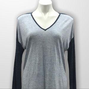 MADEWELL Long Sleeve V Neck Size Medium